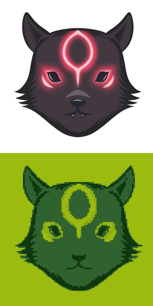 Okamiden-Dark Chibi (Icon/Avatar) by Taurus9