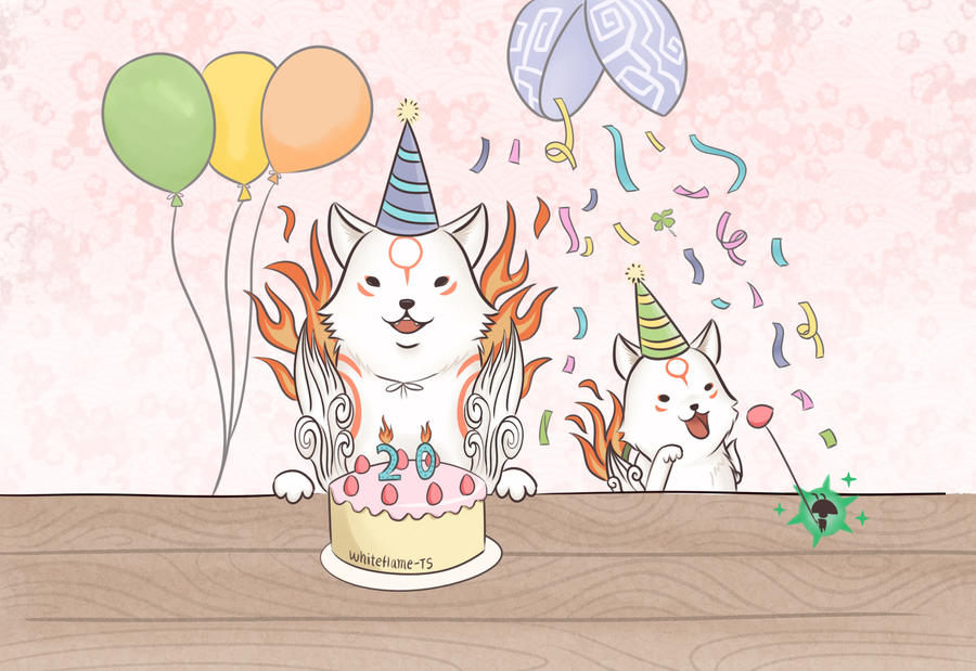 Okami: Birthday Card by Taurus9