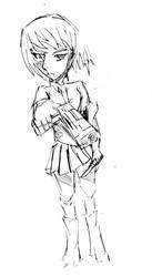 Azuma Tokaku Sketch by TheYuriReviewer