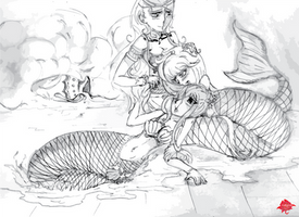 Lucy X Brandish X Aquarius Sketch C AliceMoonlight