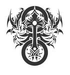 celtic cross tattoo style 2,