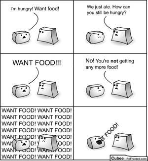 Cubee - 44 - Want food