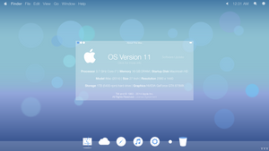 Mac OS 11 Concept - Desktop by Tecior
