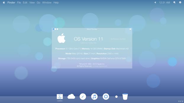 Mac OS 11 Concept - Desktop by Tecior