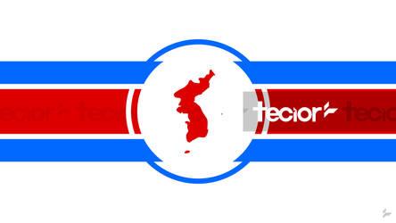 United Korea Flag Concept