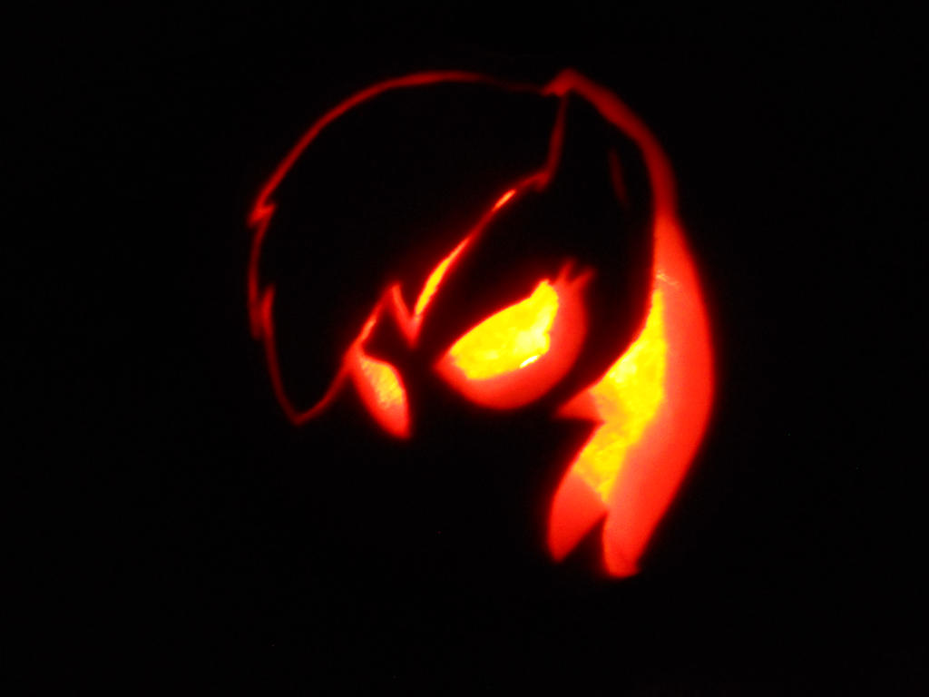 Rainbow Dash Pumpkin by BillyTheShark