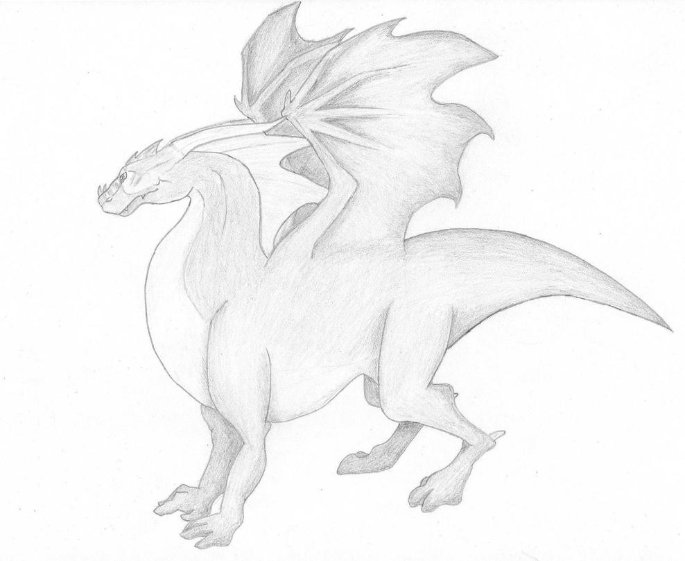 Dragon Sketch by BillyTheShark