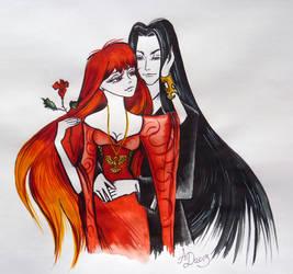 Isaak von Kampfer and Lady Phoenix.