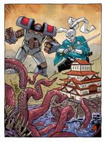 Usagi Yojimbo/Kill All Monsters pinup by JasonCopland
