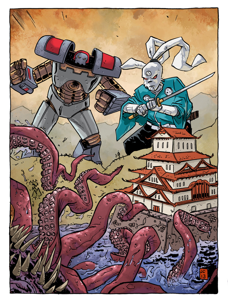 Usagi Yojimbo/Kill All Monsters pinup
