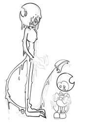 w.i.p inky and bendy by KnightGhostSmiley