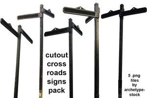 Cutout Crossroads Signs Pack by Cutoutstock
