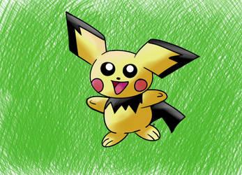 Pichu Digital Experiment - Pokemon by VulcanTrekkie