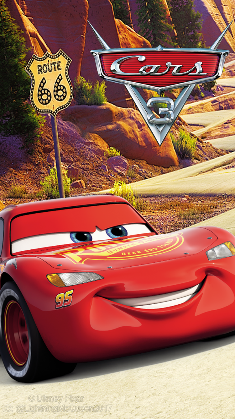 Cars 3 Lightning McQueen Wallpaper (750x1334) Logo by ...