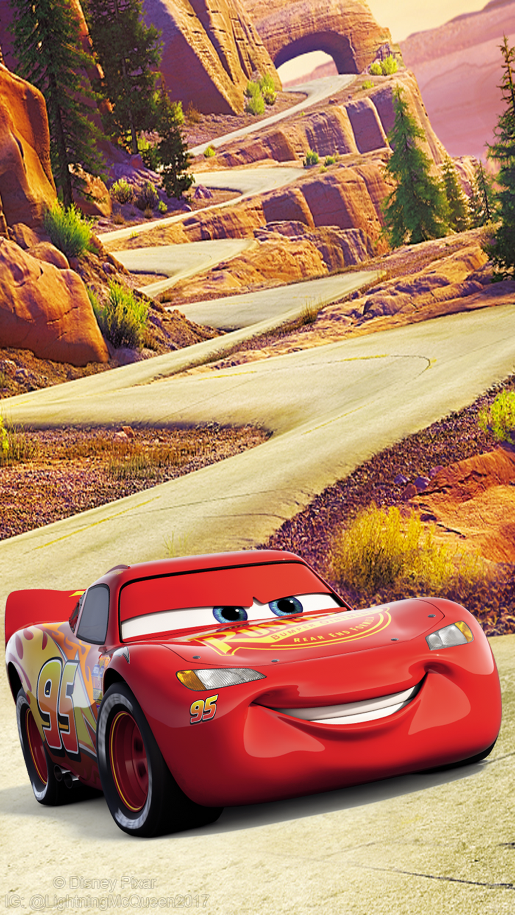 LightningMcQueen2017 Cars 3 Lightning McQueen Wallpaper 1080x1920 By