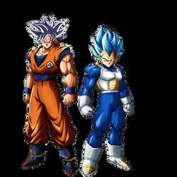 DBFZ UI Goku USSB Vegeta Renders by MohaSetif