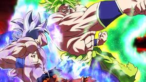 MUI Goku vs LSSJ Broly [DBS movie 2018]