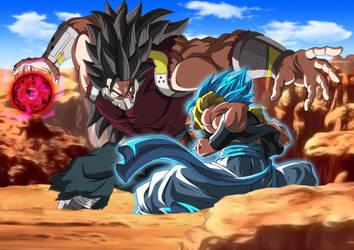 Gogeta Blue vs Cumber (The Evil Saiyan) #1 by MohaSetif