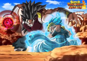 Gogeta Blue vs Cumber (The Evil Saiyan) #2 by MohaSetif
