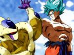 SSJB Goku vs Golden Cooler