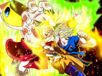 SSJ Goku vs LSSJ Broly