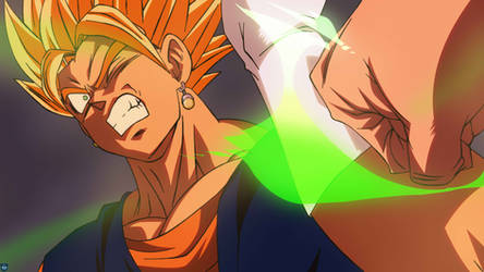 SSJ Vegetto vs Broly by MohaSetif
