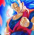SSJBE3 Kaioken Goku