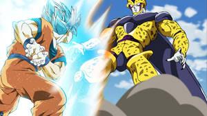 FPSSJB Goku vs Golden Cell #2