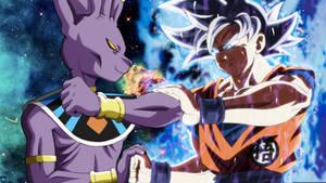GoD Beerus vs MUI Goku