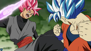 SSJBE Goku vs SSJRE Goku Black