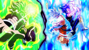 The Final Showdown: Goku and Vegeta vs Broly
