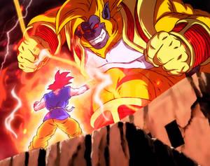 [What if] Goku vs Golden Great Ape Baby Vegeta