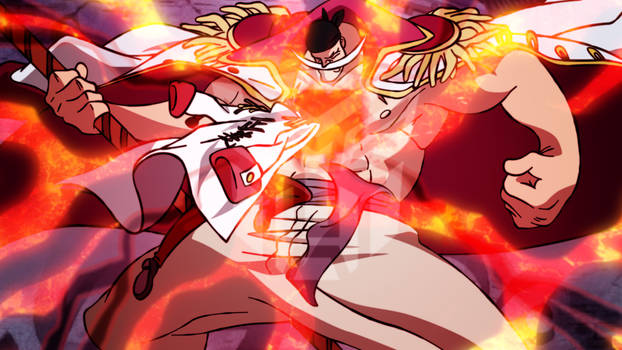 Akainu vs Whitebeard