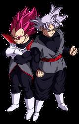 Goku Black and Vegeta Black