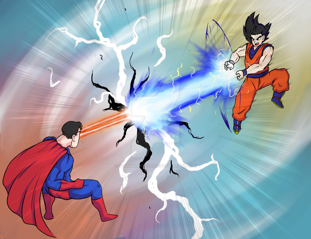 Goku vs Superman by SqrMarshmellow on DeviantArt
