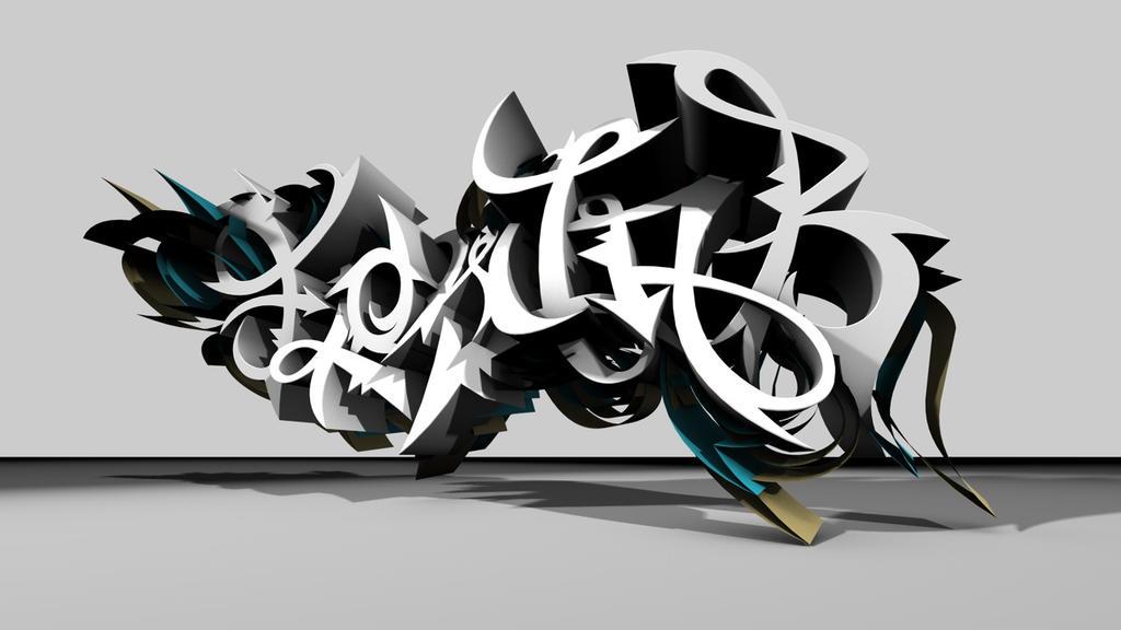 Flowjob 3d graffiti by urbancalligraphism on deviantart for Immagini graffiti hd