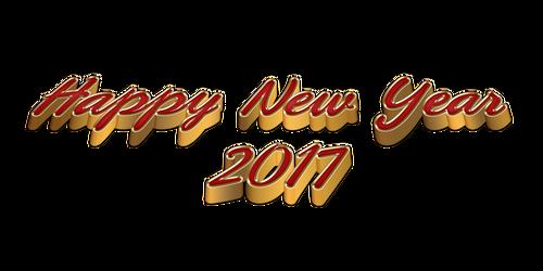 3D Happy New Year 2017