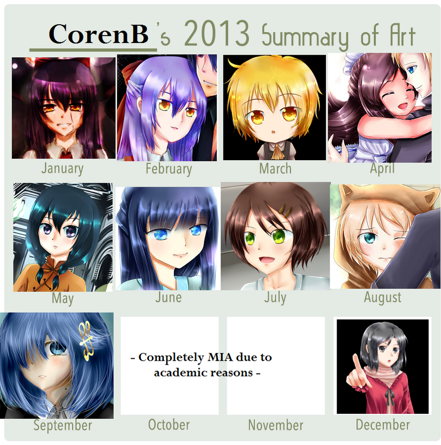 Coren's 2013 Summary of Art by CorenB
