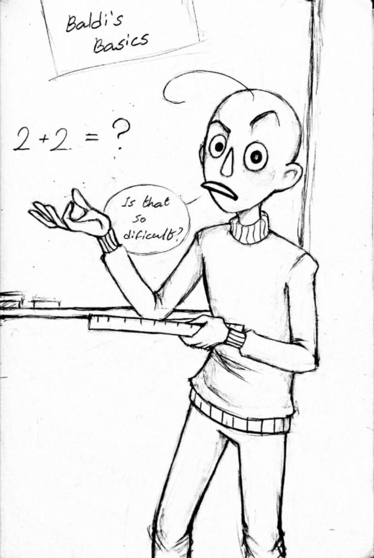 #BCP41 | Baldi Coloring Pages Now: 2020-10-05 Download || Here