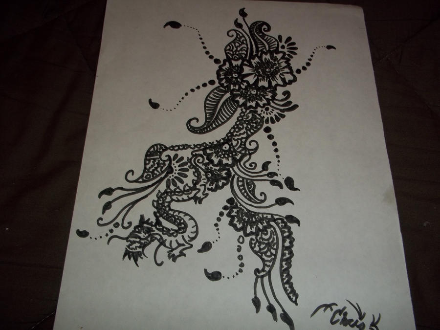 Mehndi Drawing Pictures : Henna like drawing by iamjello on deviantart