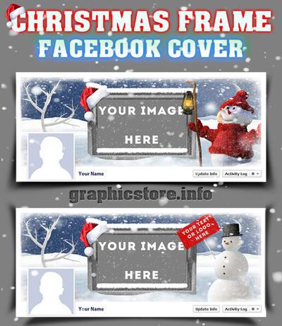 Christmas Frame Facebook Cover PSD by silviubacky