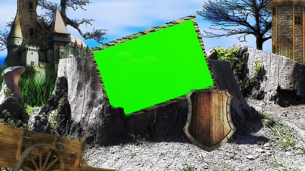 Green Screen Fantasy Frame by silviubacky