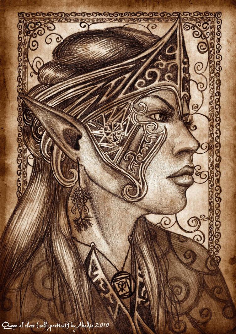 Queen of elves.'Self-portrait' by Akadio