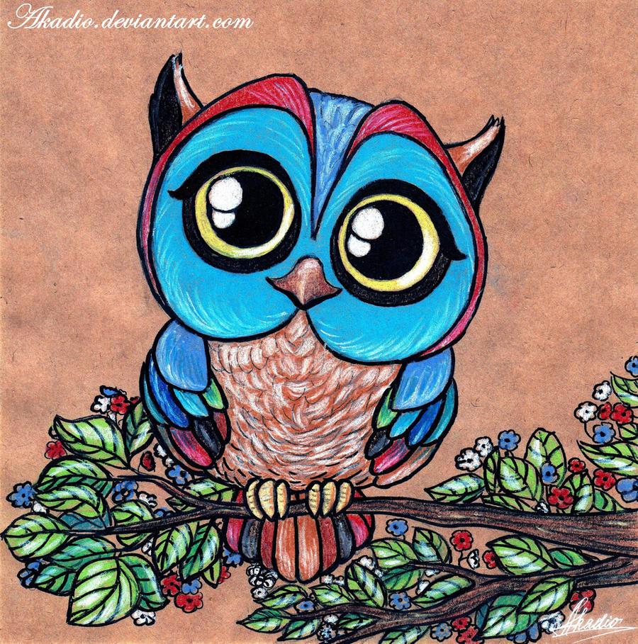The owl by Akadio