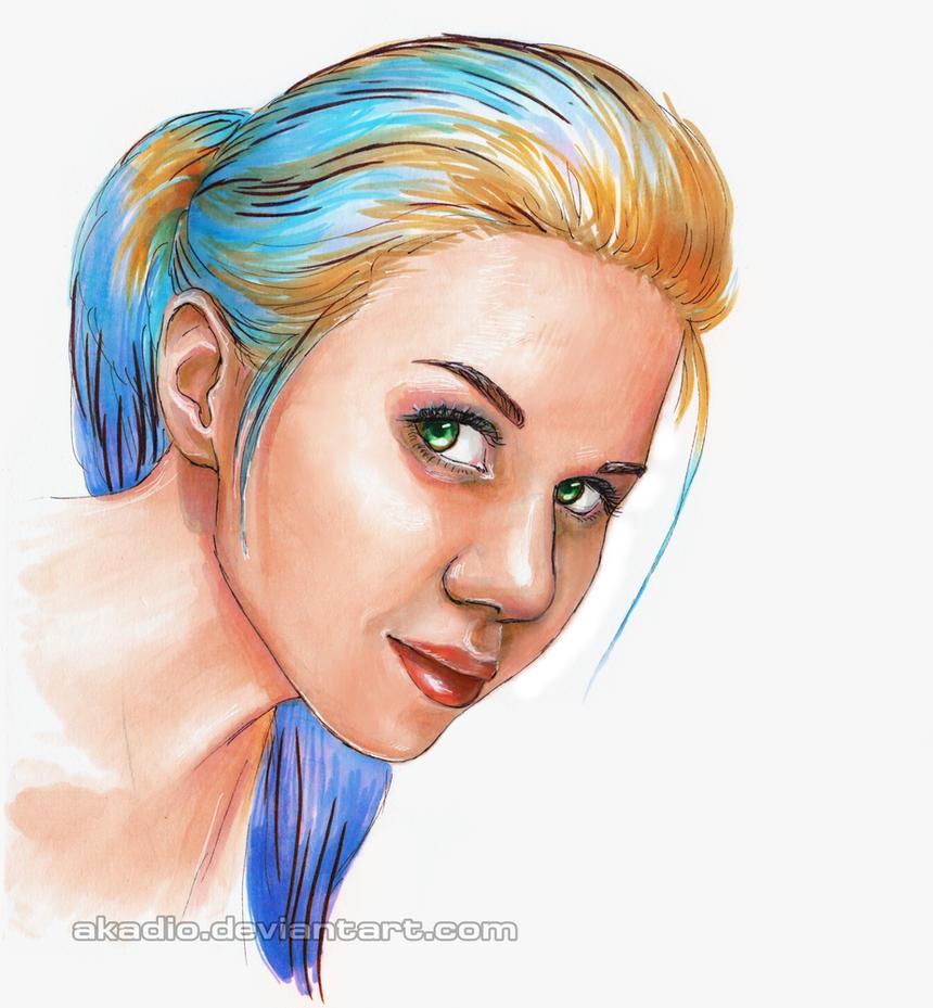 Colorful self-portrait by Akadio