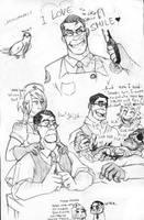 Medic and nurse!Jolly sketch by sensei-mew