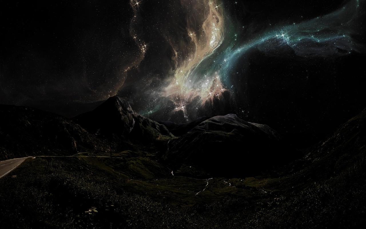 Night Road In The Open Sky By ViniVeNik