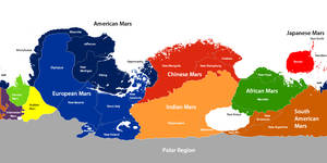 Mars Political Map