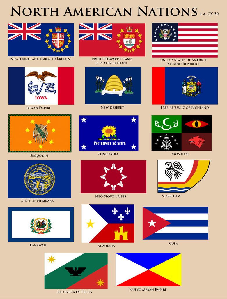 Flags Of North America CY By YNot On DeviantArt - north flags