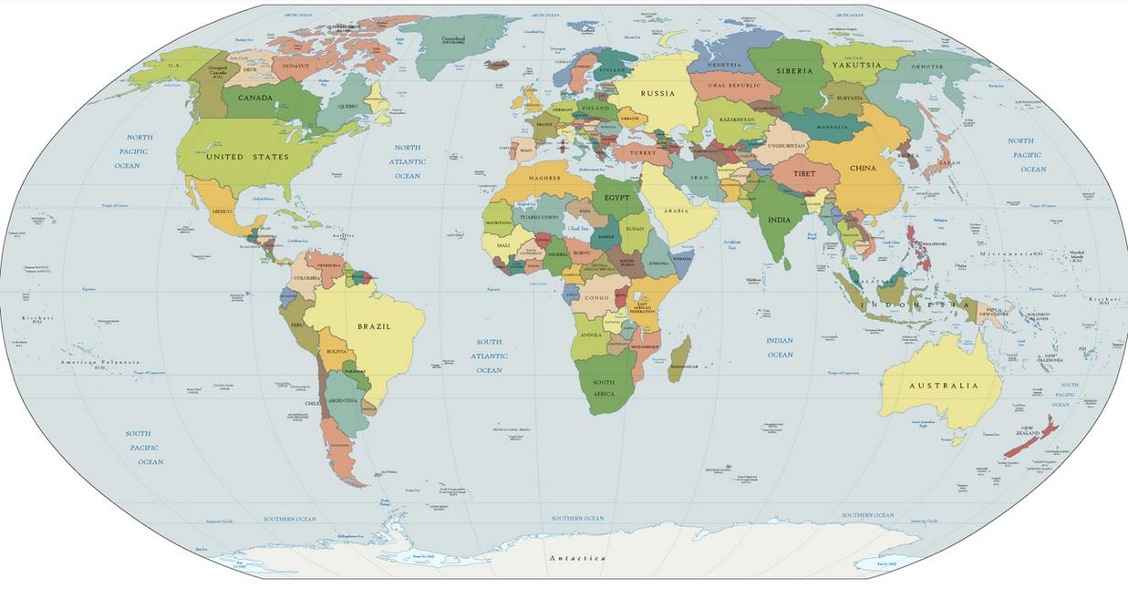 Post Flood Earth By YNot On DeviantArt - Earth political map